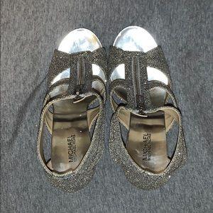 Michael Kors Berkley T-Strap Silver Glitter